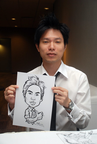 Caricature live sketching for Lonza - 17