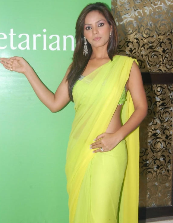 Neetu-chandra-Green-Saree