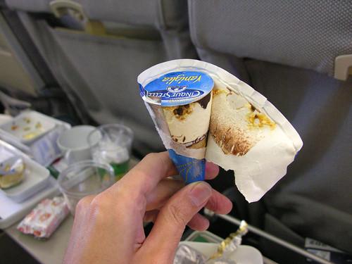 Ice cream on the plane home