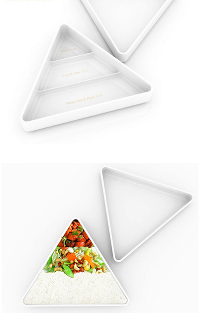 food pyramid dish