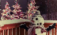 Merry Christmas (jimmy_racoon) Tags: christmas winter snow minnesota canon snowman explore xsi ef50mmf18 canonxsi