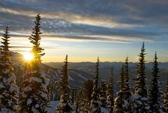 Glorious Whistler (Miles S.) Tags: trees winter sunset snow ski mountains whistler snowboarding skiing blackcomb chairlift