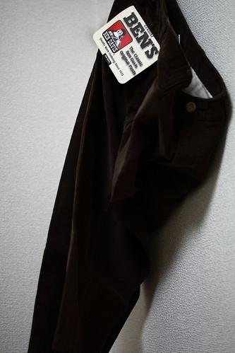 BEN DAVIS CORDUROY CROPPED PANTS