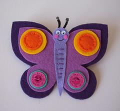 Mariposa (Lidia!!) Tags: butterfly broche crafts brooch felt feltro mariposa handicrafts manualidades fieltro
