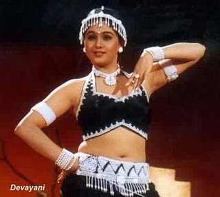 Actress Devayani in dance pose