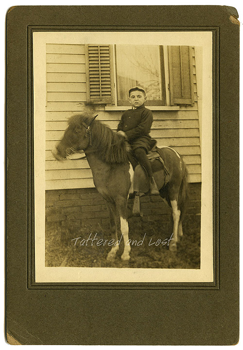 boy on pony_March 1923_tatteredandlost
