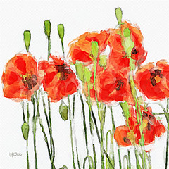 Red poppies (piker77) Tags: red painterly flores flower art digital photoshop computer watercolor painting interesting media natural aquarelle digitale manipulation natura simulation peinture illusion virtual poppy watercolour transparent acuarela tablet technique wacom stylized pintura imitation  aquarela aquarell emulation malerei pittura virtuale virtuel naturalmedia    piker77wc arthystorybrush