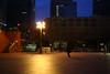 ビル街の街灯