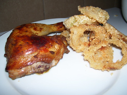 Grilled Chicken & Onion Rings