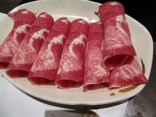 thinly sliced beef tongue