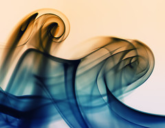 Smoke Art #2 - Ride the Waves /  (torode) Tags: blue yellow japan photoshop 50mm experimental waves smoke tsunami inverted absract incense    smokeart explored sonya300 bentorode benjamintorode