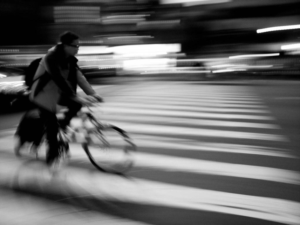 Biking somewhere