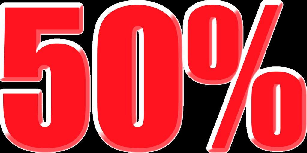 imagenes del 50% para carteles de rebajas