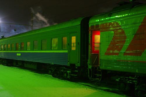 поезд Москва - Вологда, январь 2010 г.