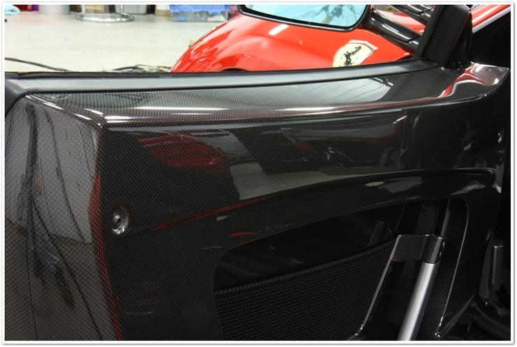 Ferrari F430 Scuderia carbon fiber with Blackfire Wet Diamond sealant