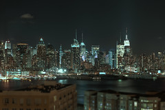 New York Skyline (aimhelix) Tags: road new york city nyc night canon river eos waterfront shot union nj jersey edgewater weehawken 500d t1i