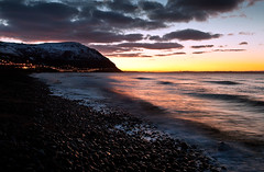 Sunset at Penmaenmawr Beach (Stu Worrall Photography) Tags: sunset beach wales canon landscape stu north welsh penmaenmawr wfc 2470mm f28l worrall stuworrall 5dmkii