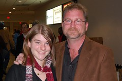Gabbie and Dad at the Holiday Concerts