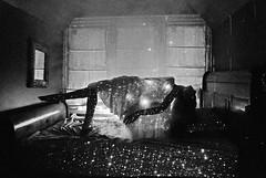 (Sofia Ajram) Tags: blackandwhite selfportrait fog stars bedroom flickr space galaxy cthulhu lovecraft closeencounters alienabduction cthulhumythos nikond80 sofiaajram fourthkind miumachi
