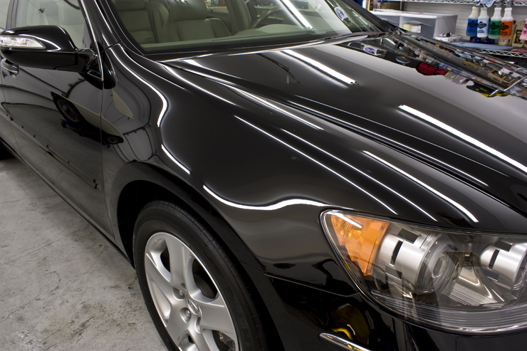 Acura RL after wet sanding and polishing