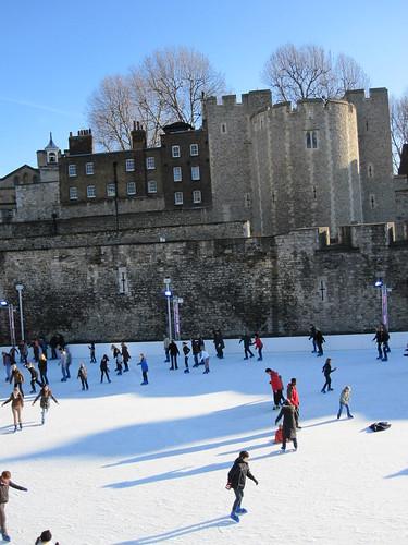 Ice Skating at the Tower
