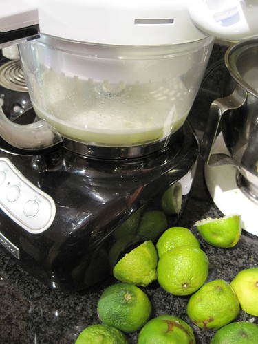 Juicing the Limes with Food Processor