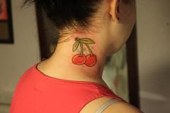cherries (nonametattoo) Tags: rose tattoo moose oldschool diamond elk oldskool tattooflash necktattoo facialtattoo nonametattoo