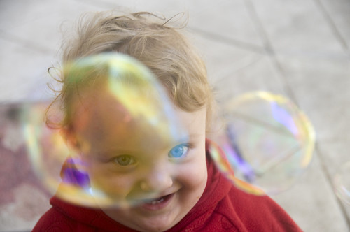 Katie Rose with Bubbles 5