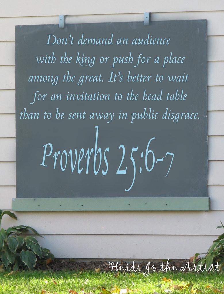 Proverbs 25:6-7