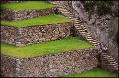 Stairway and terraces, Main Square (rickz) Tags: peru archaeology latinamerica southamerica inca cuzco ruins cusco terraces ruin tourist tourists inka stairway machupicchu travelers aguascalientes mainsquare incaruins incaempire