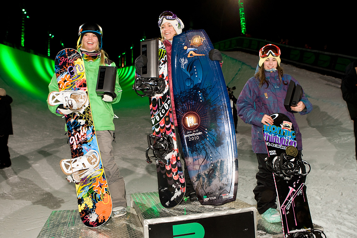 Women's Snowboard Superpipe Podium