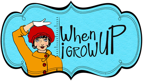 when i grow up logo color template