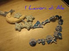 X baby Alessandro (I lavori di Ale) Tags: handmade artesanato feltro azzurro nascita artigianato fieltro fattoamano feltz pannolenci