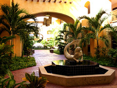 Lovely Mermaid (T.L.A.) Tags: ocean travel sea vacation tree art beach pool garden design mar compound maya playa palace palm frog resort iguana carmen barcelo mexio