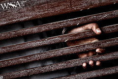 Isolated (ZaIGHaM-IslaM) Tags: door wood pakistan canon out alone hand away karachi locked isolated sdk ryk zagham