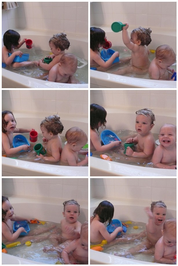Babies in the tub