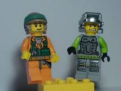 I think we might see a fight... (burakki62) Tags: power lego minifig custom miners moc powerminers