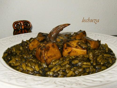 Jibia en tinta con arroz-plato-2