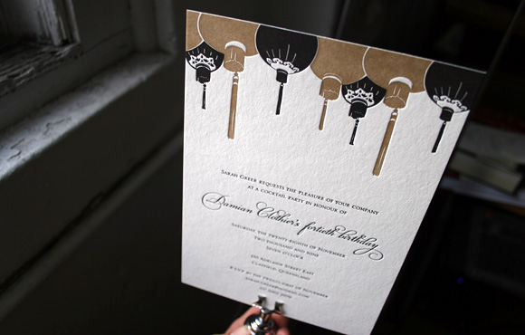 Custom Letterpress Birthday Party Invitations By Smock