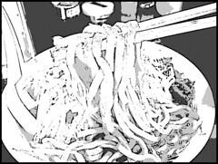 山盛山のラーメンを漫画加工