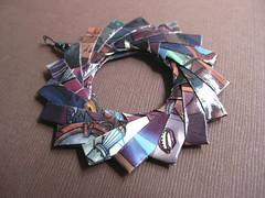 Origami Pendant - Aeon - 1 (umeorigami) Tags: origami mette comic recycled handmade manga comicbook animation videogame pendant aeon upcycled