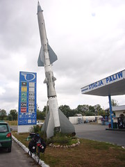 Missile ucraino davanti ad una stazione di servizio in Polonia - Ukrainian rocket in front of a fuel station in Poland