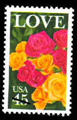 love rose stamp