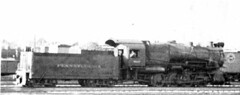 Fuzzy picture of a PRR Class C1 0-8-0 Heavy Switcher, the only eight-wheeled switcher built by the Pennsylvania in the 20th century.