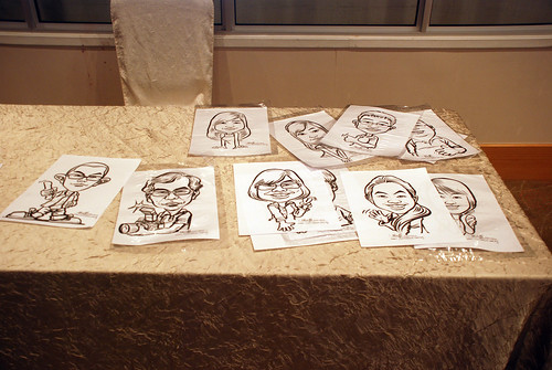caricature live sketching for birthday party 220110 - 18