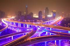Future is now! (arndalarm) Tags: china light night concrete licht highway shanghai motorway nacht autobahn blingbling highrise intersection   shanghaiist beton gettyimages kreuzung hochhaus  huangpu peoplessquare  arndalarm  zhnggu jwmariott explore29 chengdulu rnmngungchng chongqinglu yananzhonglu huangpudistrict  ninedragonpillar yanandonglubridge  img5129c50v30l051eklein