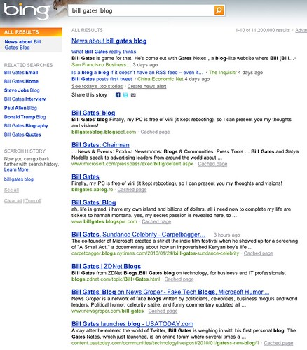 bill gates blog - Bing