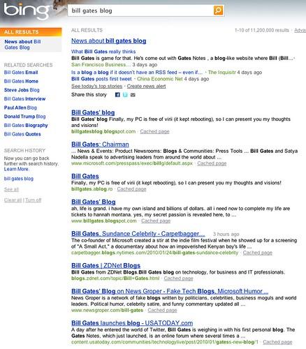 bill gates blog - Bing