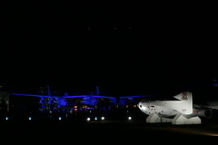VSS Enterprise seen at night near SpaceShipOne lifesize model_Mark Greenberg (Virgin Galactic) Tags: ss2 vssenterprise ricahrdbranson burtrutanspacetravelmojave