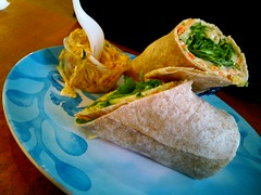 Hummus Wrap and Slaw